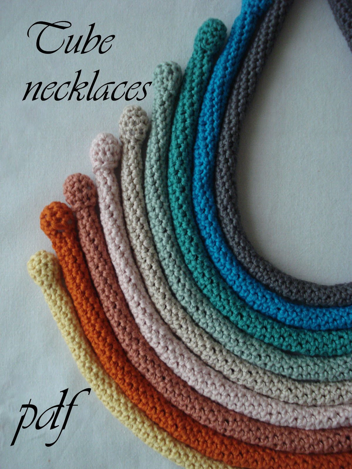 Crochet Patterns Necklace : Little Treasures: PDF Crochet Pattern for sale - Tube Necklaces