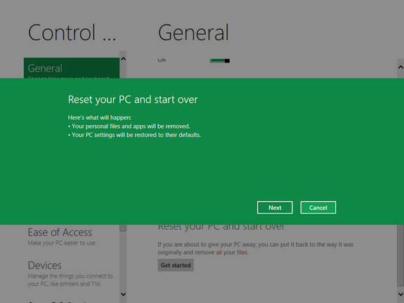 Actualizar y Restaurar PC en Windows 8