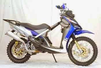 contoh modifikasi mio sporty cross