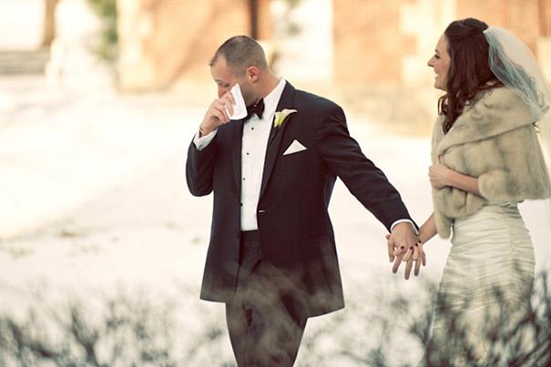 novios lloran boda