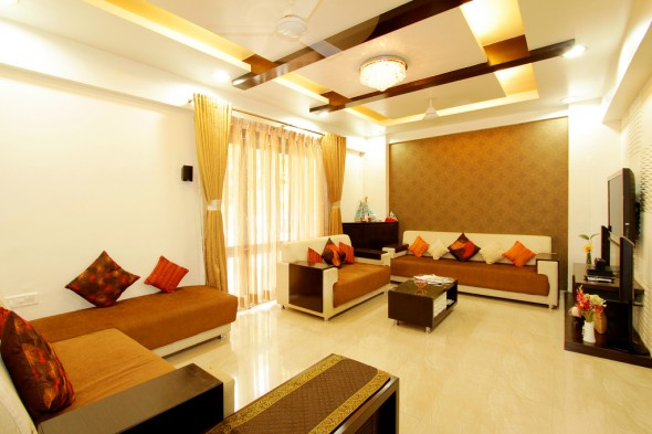 Interior design living room design ideas indian style for 1 bhk living room interior