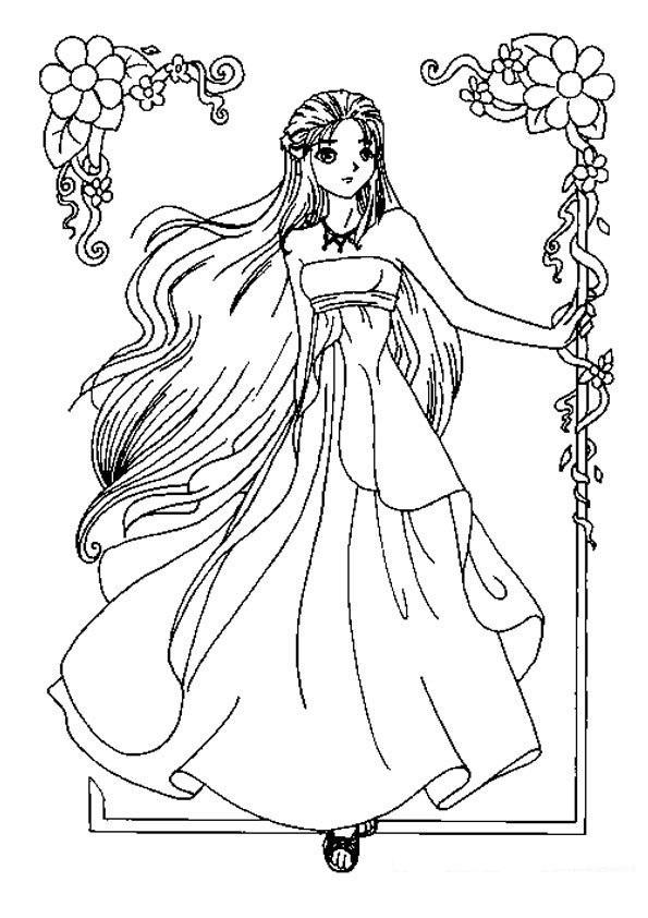 Las Princesas para Colorear: Imágenes para colorear de ...