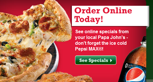 "Papa John's Pizza is an award winning pizza franchise that was voted ""Best Pizza"" in markets all over North America. Customers can create an account so their favorite pizza orders are saved, which makes placing an order fast and easy. Use a discount code when you order online to ."