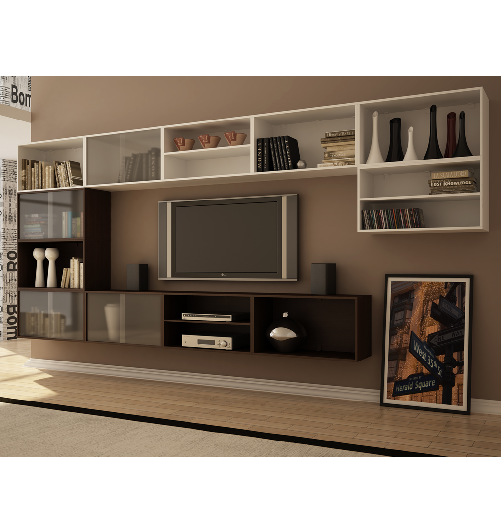 Ideias Pra Sala De Tv ~ modelo é pra quem gosta de deixar as coisas à mostra, com a cor de