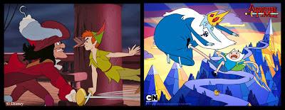 Peter Pan Adventure Time Captain Hook Ice King Finn Jake