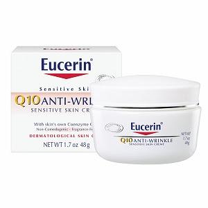 Eucerin, Eucerin moisturizer, Eucerin face cream, Eucerin Q10 Anti-Wrinkle Sensitive Skin Creme, face cream, moisturizer, skin, skincare, skin care