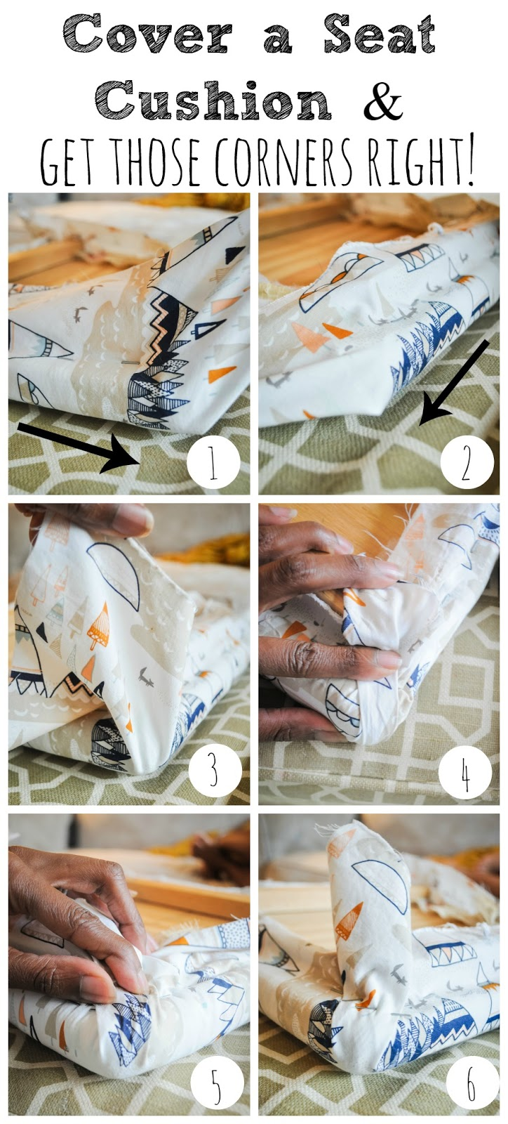 how to recover a seat cushion hint it s so easy pretty real