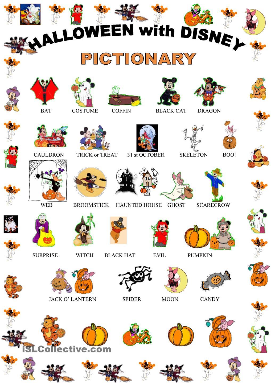 english honori garcia: halloween with disney