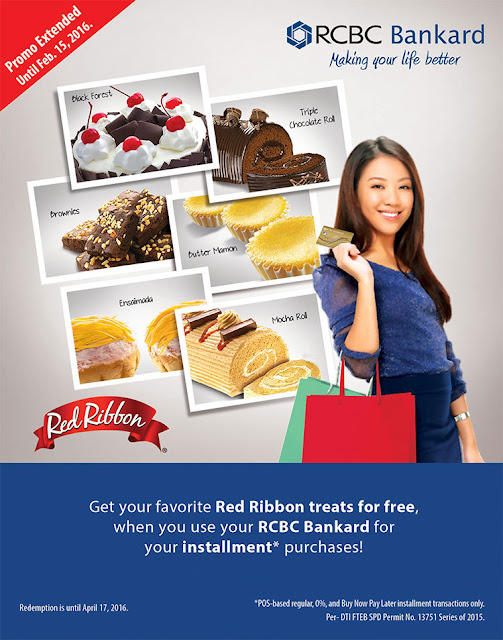 RCBC Bankard: Free Red Ribbon Bundle Treats