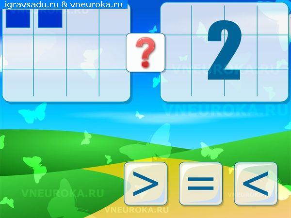 Программа «Радуга» (математика) скачать презентацию для интерактивной доски ДОУ по ФЭМП в ДОУ «Сравнение чисел от 1 до 3 (больше, меньше или равно)»