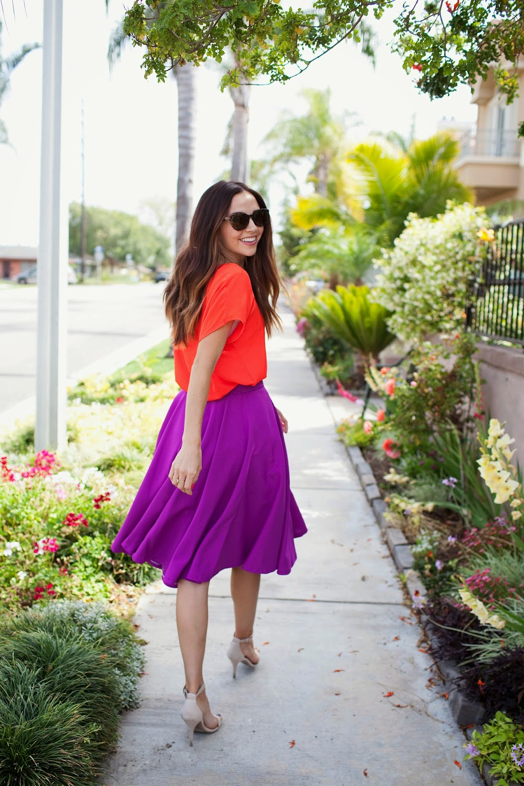 Easy DIY Radiant Orchid Circle Skirt advise