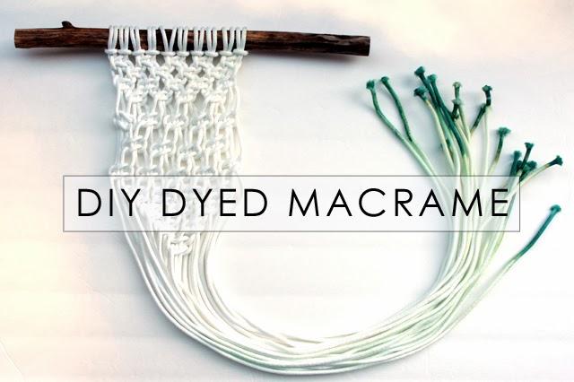 How To Make A Macrame Wall Hanging bromeliad: my diy ombre macrame wall hanging - fashion and home