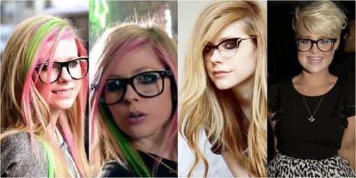 celebridades usando oculos de grau
