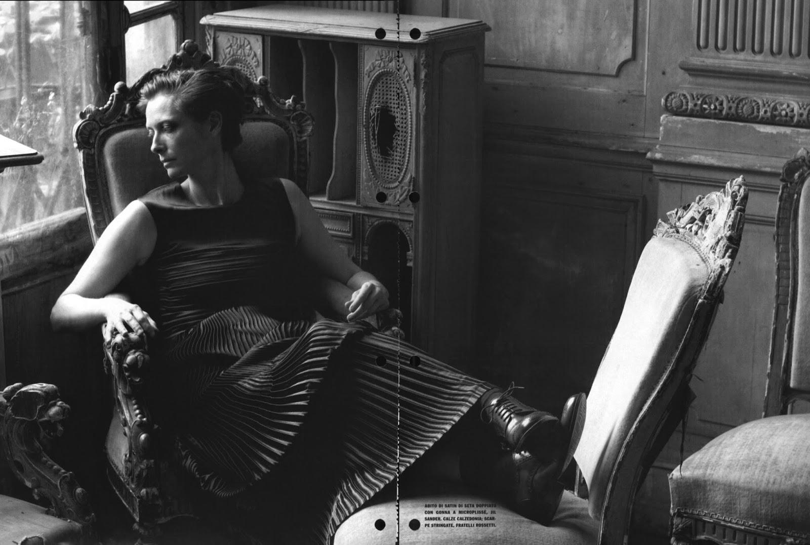 Tilda Swinton by Peter Lindbergh for Vogue Italia (September 2007)   Ses Rêveries