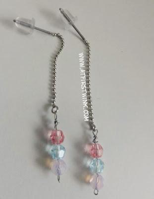 handmade swarovski earrings pastel colors