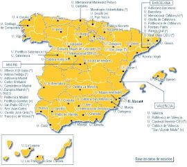 Mapa de universidades