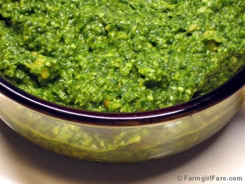: Searching for the Best Arugula Pesto Recipe, Making Arugula Pesto ...