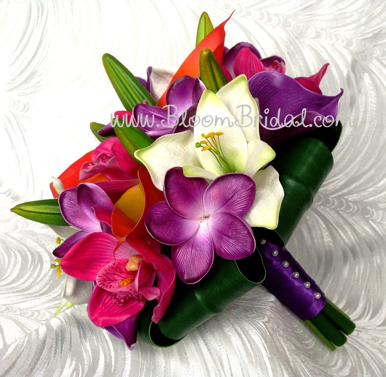 Bridal Bouquet Tropical Flowers : Bridal bouquet tropical wedding flower