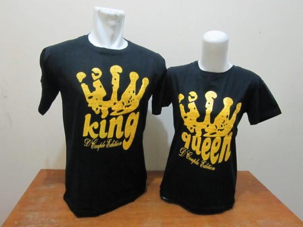 Desain Baju Couple King Queen Lengan Pendek