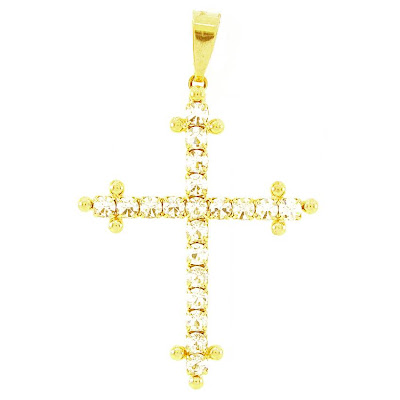 pingente semi-joia crucifixo
