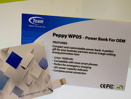 Team Peppy WP05 1020mAh Lithium-Ion Power Bank