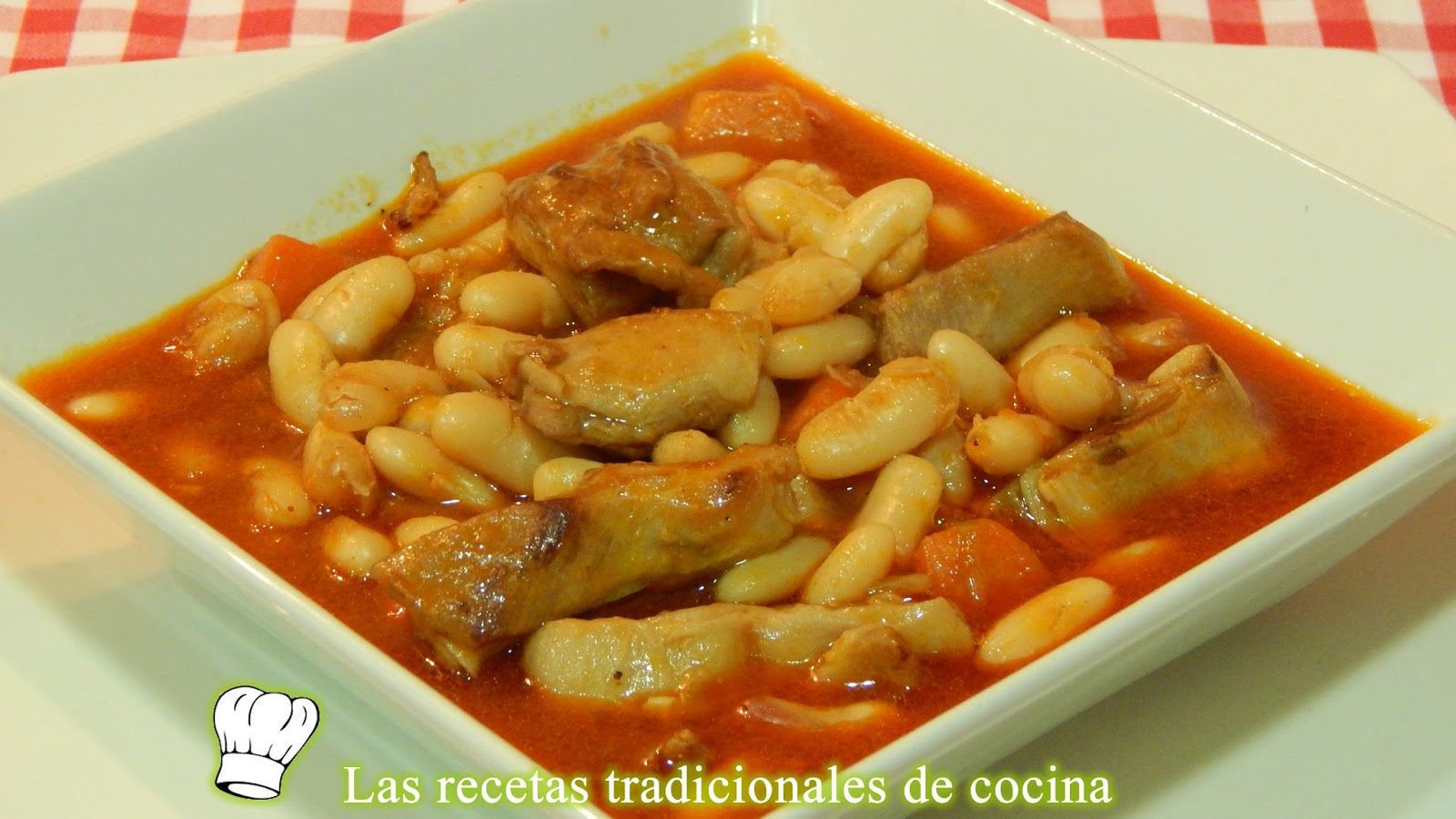 o viene muy propiedad un bueno plato de cuchara Recetas de Alubias con cordero receta fácil