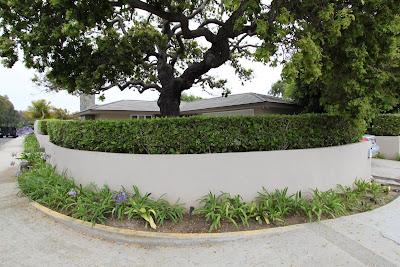 mid-century modern circular driveway