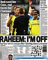 The Daily Mail leads on the news Raheem Sterling  wants to leave Liverpool