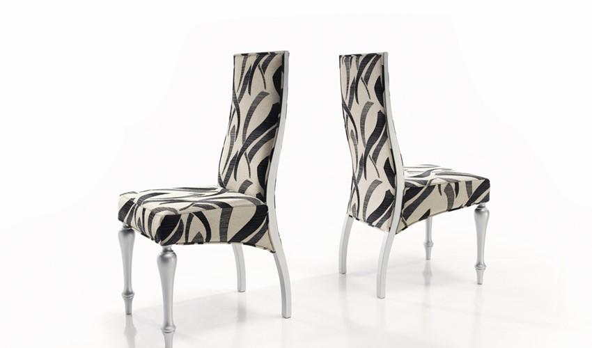 Decorando dormitorios lindas sillas de comedor tapizadas for Telas para tapizar sillas comedor