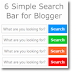 6 Simple Search bar for Blogger