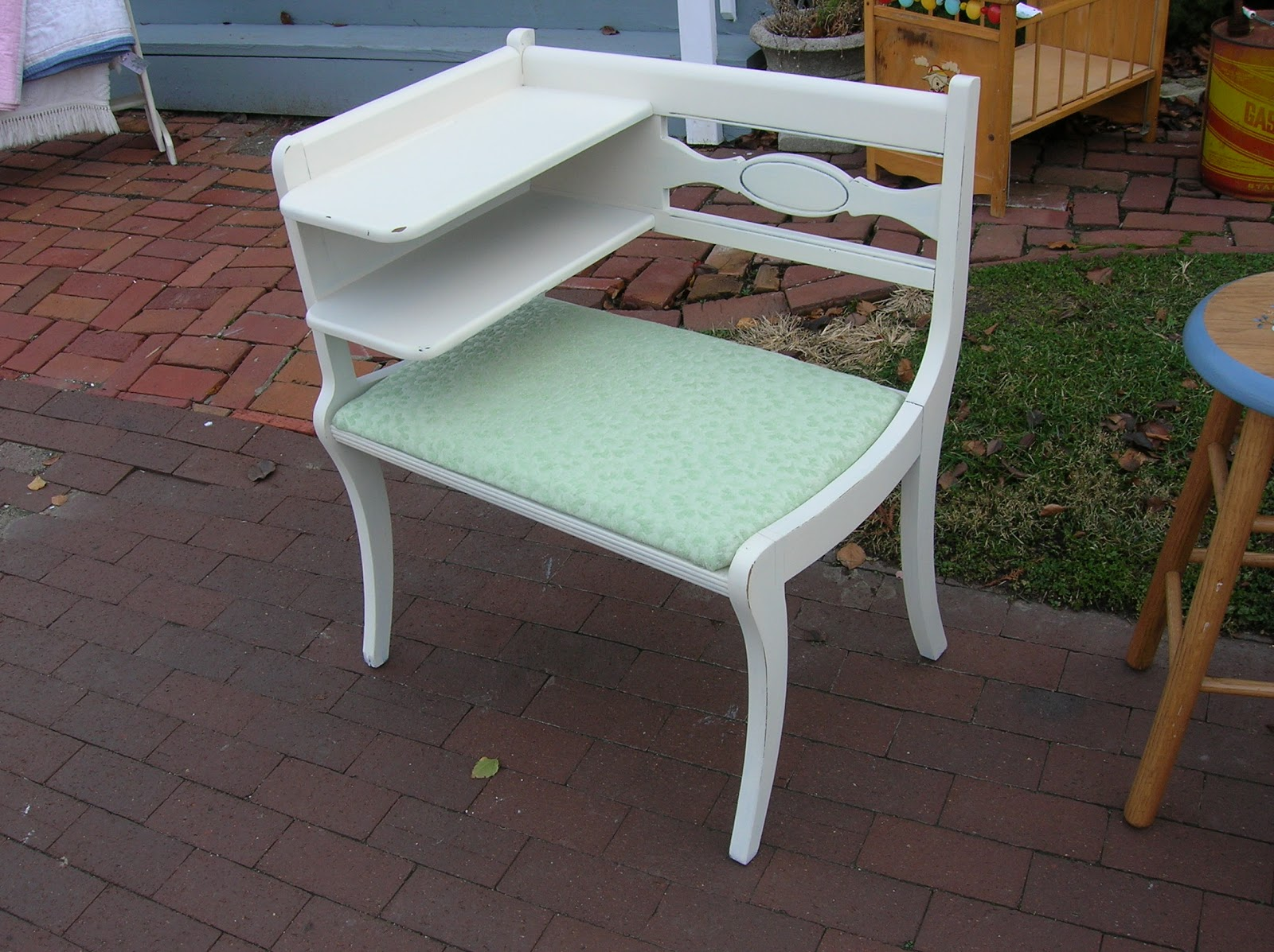 Shabby Shoppe Talk Painted Gossip Bench Sold