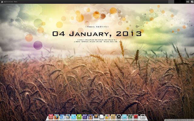 Tampilan Desktop Linux