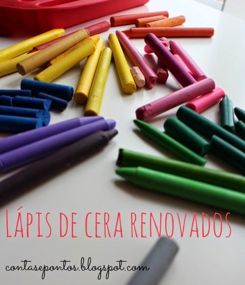 Reaproveitar lápis de cera