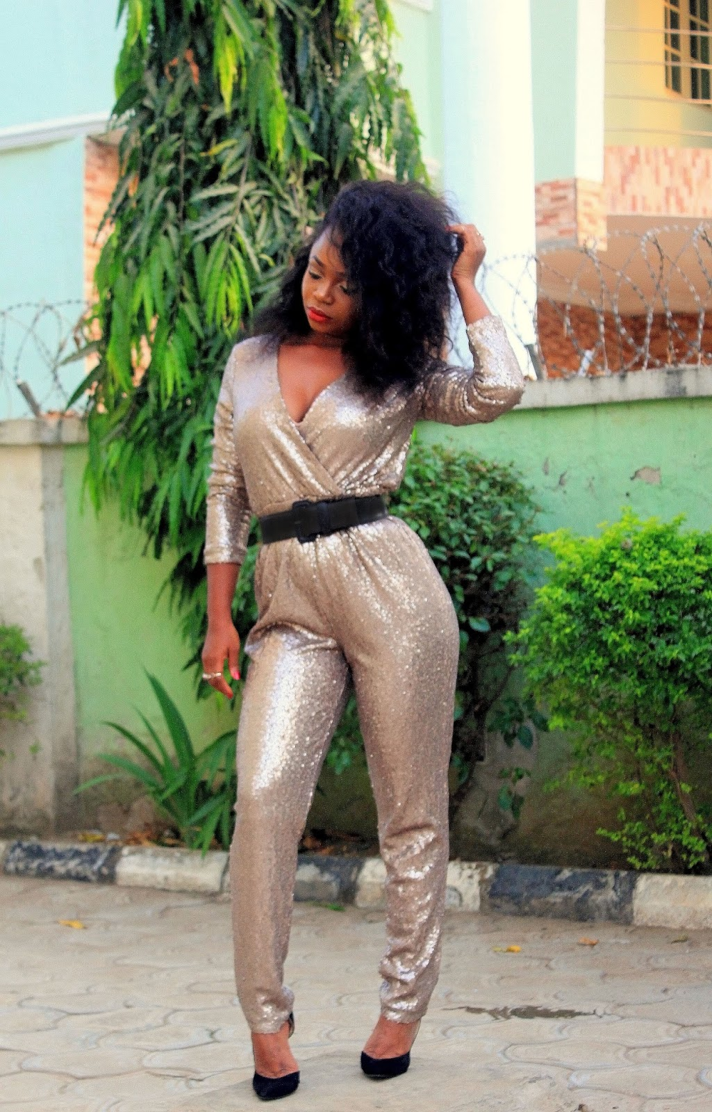 HOLIDAY SEQUINS - JUMPSUIT