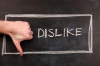 redes sociais dislike