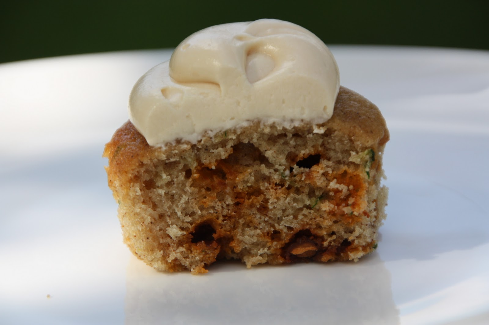 ... and Yellow Squash Cinnamon Chip Cupcakes with Caramel Frosting