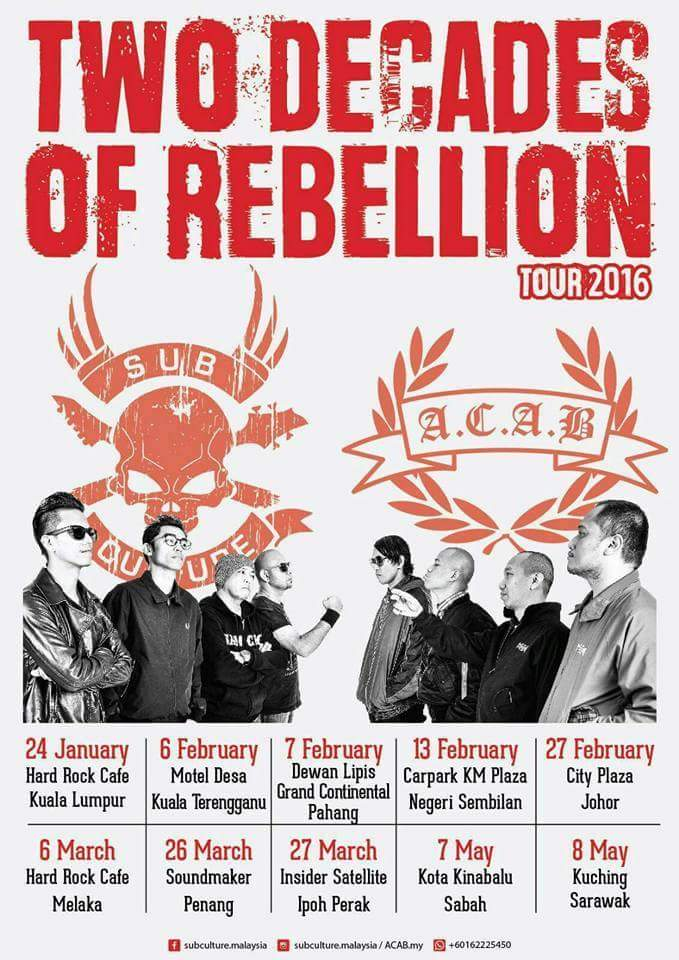Event Two Decades Of Rebellion Tour 2016