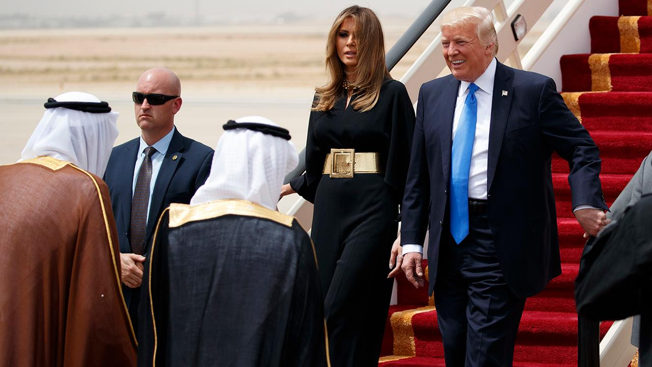 PRESIDENT DONALD JOHN TRUMP IN SAUDI ARABIA.