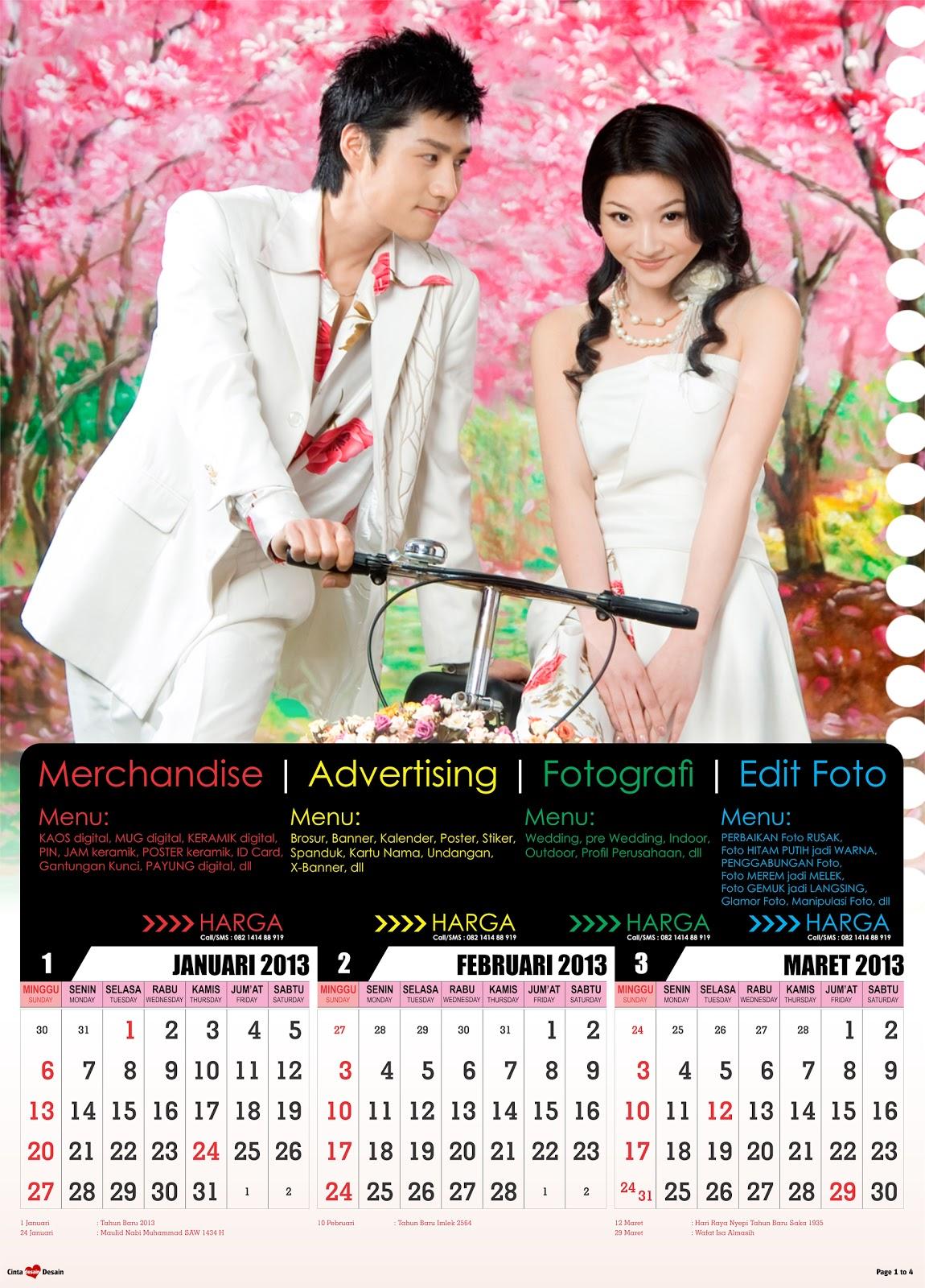 Download Kalender 2013 Format CorelDRAW