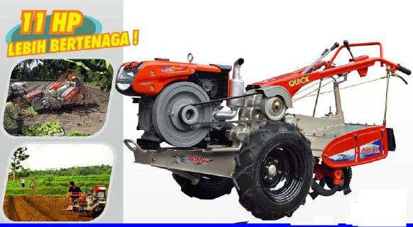 Traktor Tangan Quick Zena Rotary