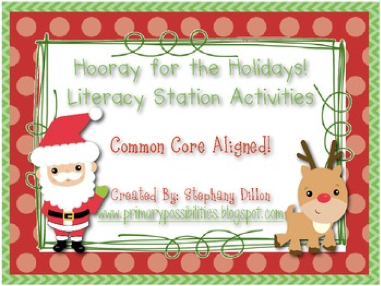 http://www.teacherspayteachers.com/Product/Christmas-Holiday-Literacy-Stations-and-Center-Activities-Common-Core-Aligned-420765
