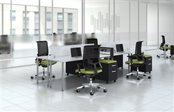 Collaborative Open Desking Layout