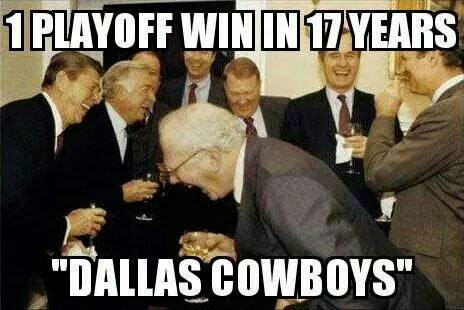 """1 playoff win in 17 years """"dallas cowboys"""""""