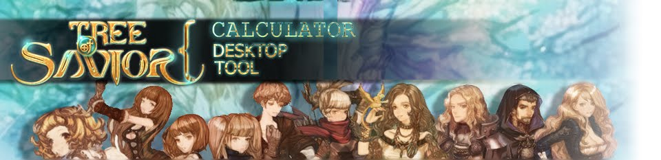 Tree of Savior Calculator Desktop Tool