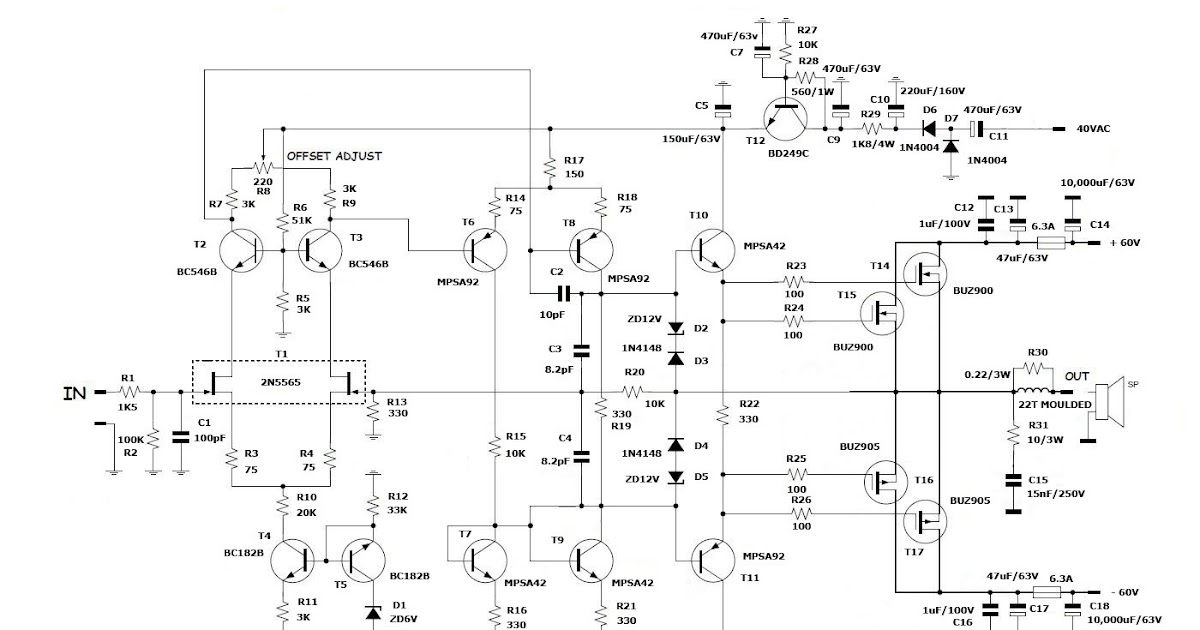 forum diagram high end power amplifier circuitHigh End Power Amplifier Circuit #1