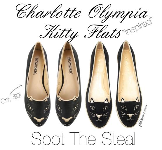 charlotte olympia inspired kitty flats