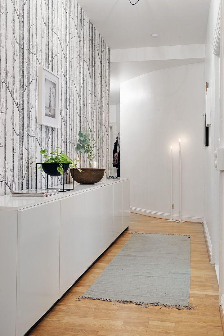 Hogar diez c mo decorar pasillos estrechos - Como decorar un recibidor moderno ...