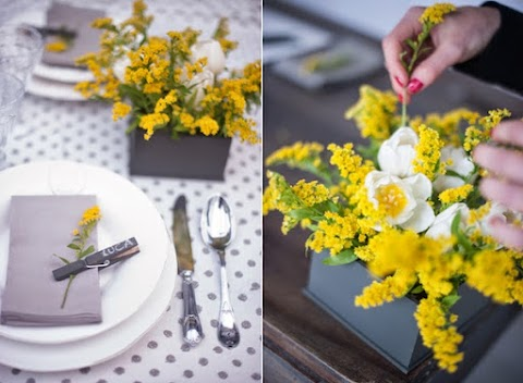 Piccole idee per una tavola primaverile che si veste di giallo