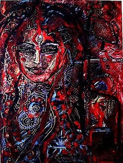 Painting of a Hindu goddess