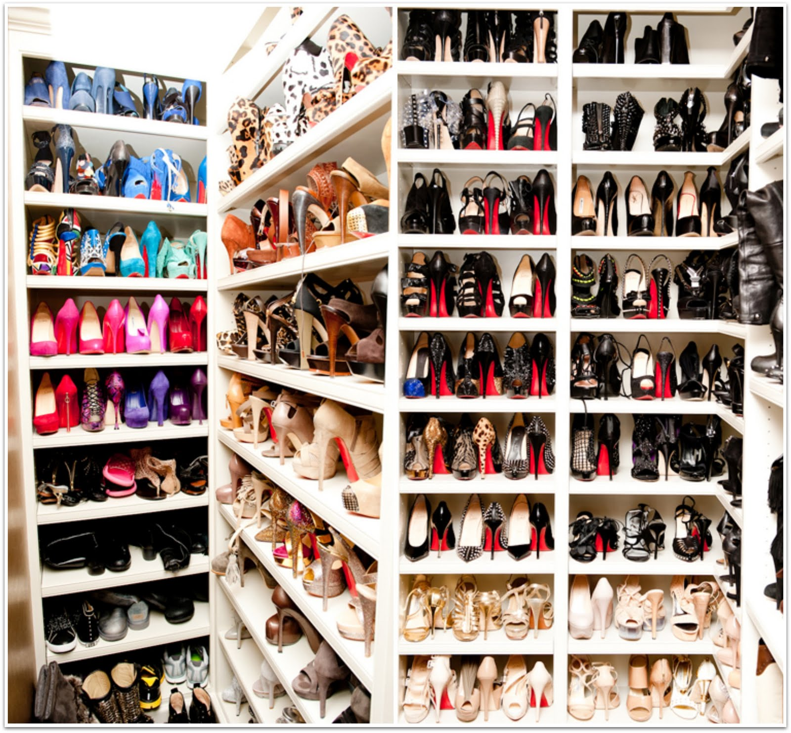 Her MASSIVE Shoe Closet!! And Judging From The Huge Amount Of Those Red  Soles   An Outright Loub Fan.